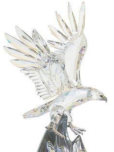 Soaring eagle Swarovski crystal figurine!