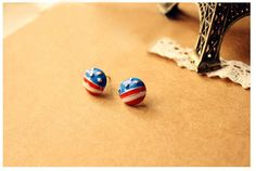 Retro Style Stars and Stripes Pattern Earrings (AS THE PICTURE) China Wholesale - Sammydress.com