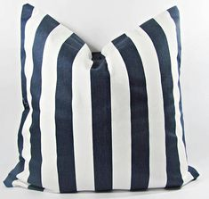 Modern Colourful Eclectic — This nautical stripped pillow cover is sure to help create a lovely atmosphere in your favorite room. The pillow is made from a cotton fabric. An inseam zipper keeps everything neat. Cowhide Pillows, Red Pillows, Throw Pillows, Pillow Cover Design, Decorative Pillow Covers, Custom Valances, Etsy Shipping, Designer Pillow, Pillow Inserts