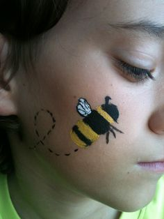 Bumble bee face paint