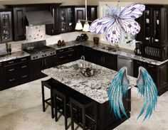 50Best Modern Kitchen Cabinet Ideas - InteriorSherpa black kitchen cabinets<br> If you are looking for some of the best ideas for kitchen cabinets then we have got you sorted with some of the most excellent ideas. Here you will find.. Black Kitchen Cabinets, Green Cabinets, Modern Cabinets, Modern Farmhouse Kitchens, Black Kitchens, Modern Kitchen Design, Modern Design, Stainless Steel Farm Sink, Cabinets To Ceiling