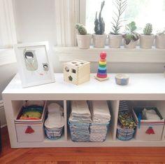 Pretty expedit diaper storage Cloth Diaper Organization, Diaper Storage, Cloth Diapers, Nursery, Positivity, Pretty, Kids, Baby, Young Children
