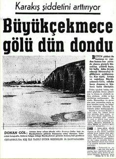 Büyükçekmece Gölü dondu - 15 Ocak 1968