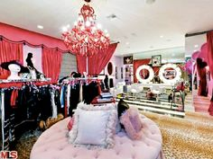 The dressing room in Christina Aguilera's former mansion