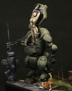 Sci Fi Anime, Sci Fi Models, Cool Robots, Pulp, Webtoon Comics, Comic Movies, Science Fiction Art, Mini Paintings, Fantasy Illustration