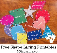 FREE Lace Shape Sewing Printables