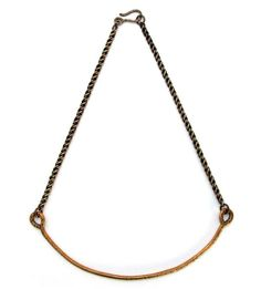 Notched Bronze Collar Necklace