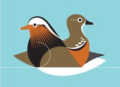 Eleanor Grosch's digital illustrations are reminiscent of Charley Harper's beautiful prints: