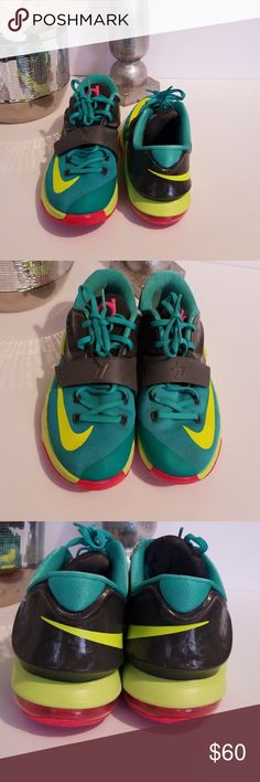 super popular 00a67 74348 Nike Zoom Kd 7 Vii Womens Shoes Grass Green Yellow