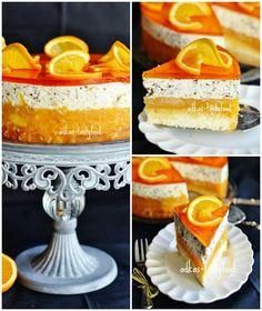 Pomarančovo-jablková stracciatella torta