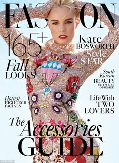 Kate Bosworth stars on the October 2016 issue of Fashion Magazine