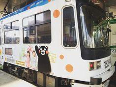 #日本#熊本#Japan#kumamoto#Tram#구마모토#트램#쿠마몬#Kumamon  귀여워...떠나기아쉽군 바이바이 쿠마몬 ㅋㅋㅋ by katie_yangyang11