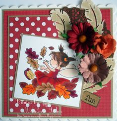 LOTV - September Fairy with Sunny Side Up Paper Pad and Sentiment Tags by Marianne Fisher