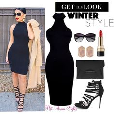 How To Wear MOCK NECK DRESS Outfit Idea 2017 - Fashion Trends Ready To Wear For Plus Size, Curvy Women Over 20, 30, 40, 50