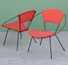 Vintage Saucer Hoop Chairs red