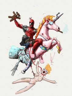 One of the most Deadpool things i have ever seen Deadpool Fan Art, Deadpool Love, Deadpool Funny, Deadpool Unicorn, Deadpool Stuff, Marvel Now, Marvel Heroes, Marvel Comics, Deadpool Pictures