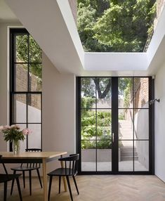 """leibal: """"Tower House is a minimalist renovation located in London, United Kingdom, designed by Dominic McKenzie Architects. According to the architects, the original house was constructed in the Patio Interior, Home Interior Design, Interior Architecture, Interior And Exterior, London Architecture, Light In Architecture, Best Home Design, Interior Windows, Interior Colors"""