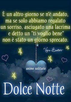 Vi auguro una splendida notte.