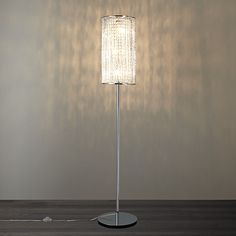 Buy John Lewis & Partners Emilia Crystal Drum Floor Lamp from our Floor Lamps range at John Lewis & Partners. Wall Lights, Ceiling Lights, Light Fittings, Light Table, Art Deco Fashion, Chrome Finish, Old World, Floor Lamp, Drums