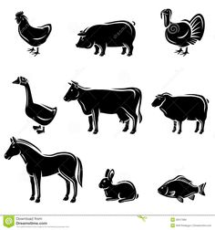 Farm Animals Set. Vector Royalty Free Stock Images - Image: 32517689
