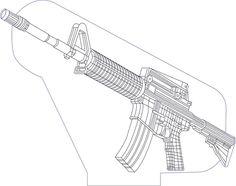 3D illusion ammo3 premium vector drawing