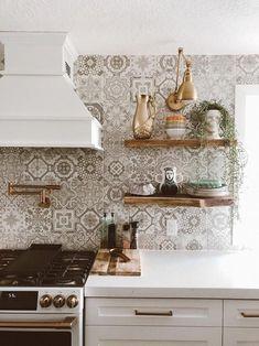 12 Beautiful Bohemian Style Kitchen Decoration Ideas ~ My Dream Home Home Decor Kitchen, Kitchen Interior, New Kitchen, Home Kitchens, Italian Kitchens, Kitchen Ideas, Tuscan Kitchens, Updated Kitchen, Country Kitchen