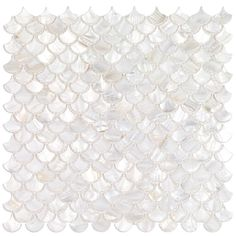 Ivy Hill Tile Pacif Random Sized Glass Pearl Shell Mosaic Tile in Polished White/Pearl Ivy Hill Tile, Mosaic Flooring, Mosaic Tiles, Mosaic Tile Backsplash, Shell Mosaic, Shell Mosaic Tile, Feature Tiles, Trendy Kitchen Backsplash, Pearl Tile