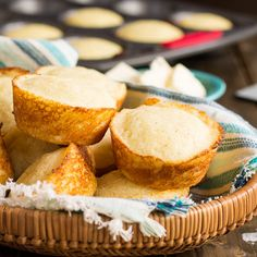 Delicious buttermilk cornbread muffins with a hint of sweetness. They're perfect with a pat of butter and a drizzle of honey. Cornbread made as muffins is one of the easiest ways to add bread to Buttermilk Cornbread, Cornbread Muffins, Cornbread Recipes, Spicy Recipes, Cooking Recipes, Cooking Ideas, Delicious Recipes, Food Ideas, Brunswick Stew