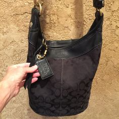 Beautiful Black Coach Bag In Excellent Condition!