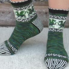 Dragon Realm Socks Detail