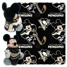 Use this Exclusive coupon code: PINFIVE to receive an additional 5% off the Pittsburgh Penguins Mickey Mouse Hugger with Throw at SportsFansPlus.com