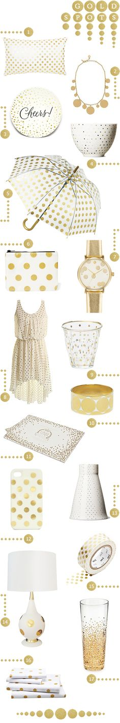 Gold Polka Dot Inspiration