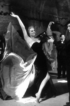 The image of Anita Ekberg emerging from the Trevi fountain in a black dress is forever connected to La Dolce Vita (the film and the concept!).