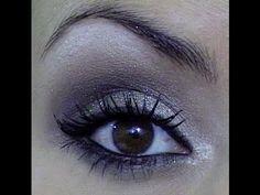 Smokey eye Marrom com Gliter
