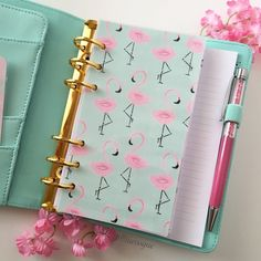 Personal Planner Dashboard Flamingo Mint by RueVogueShoppe Flamingo Beach, Flamingo Gifts, Flamingo Decor, Flamingo Party, Pink Flamingos, Lila Baby, Planner Dashboard, Cute School Supplies, Journal Cards