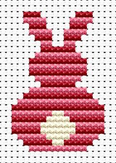Easy Peasy Bunny cross stitch kit from Fat Cat Cross Stitch. Ideal for beginners however please ensure young stitchers are supervised. Finished size approx 6.7cm x 10.1cm. Kit contains 6ct Binca white aida fabric, stranded embroidery cotton, needle, colour chart and instructions. A brand new kit will be sent directly to you by Fat Cat Cross Stitch - usually within 2-4 working days © Fat Cat Cross Stitch