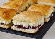 Homemade Flakies with Raspberry Compote and Vanilla Cream