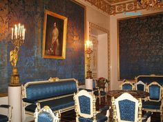 Blue Parlor of the Yusupov Palace. Saint Petersburg, Russia.