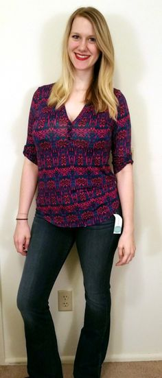 Pixley Edmond Henley Knit Top. Dear Stitch Fix Styllst i really like the pattern and the colors of this top.
