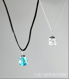 cracked marble jewelry. Bake @ 350 x 15-20 minutes then dump into metal bowl filled with ice and cold water to make them crack