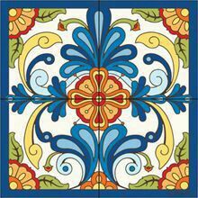 Mural Blue Talavera Design decorative art tile is hand painted and hard fired at over 1800 degrees making it ready for use indoors or outdoors Tile Murals, Tile Art, Design Rosa, Blue Design, Motif Arabesque, Talavera Pottery, Southwest Decor, Mexican Art, Mexican Tiles