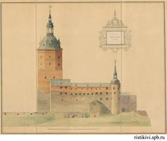 The project of reconstruction of the castle in Vyborg, 1885 Russian Architecture, Architecture Details, Central Asia, Old Pictures, Finland, Taj Mahal, Medieval, Photo Wall, Community
