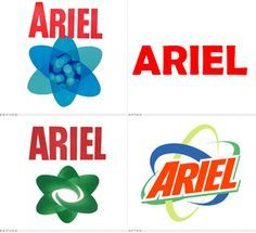 Ariel – brand development along the years.