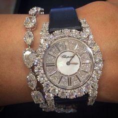 Diamond bracelet or Diamond watch? Why not both? Stunning rocks in… Diamond bracelet or Diamond watch? Why not both? Stunning rocks in her spectacular Chopard watch and diamond bracelet ⌚️⌚️Chopard ⌚️⌚️Chopard⌚️⌚️Chopard ⌚️⌚️️Chopard ⌚️⌚️ Jewelry Box, Jewelery, Jewelry Watches, Jewelry Accessories, Fine Jewelry, Jewelry Stores, Jewelry Trends, Diamond Bracelets, Diamond Jewelry
