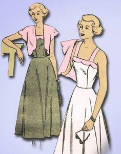 1940s Scalloped Sun Dress Topper Pattern Mail Order Sewing Pattern Sz 32 B | eBay