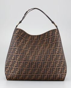 Zucca Large Hobo Bag, Fendi