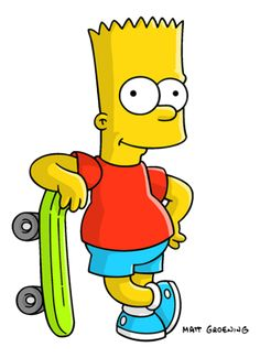 The Simpsons Low cognitive effort. Bart Simpson, a cartoon character that has been on television for decades. Simpsons Tattoo, Simpsons Drawings, Cartoon Drawings, Cartoon Art, The Simpsons, Simpsons Party, Patty Y Selma, Bd Garfield, Homer Simpson