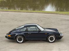 1988 PORSCHE 911 3.2 Carrera  Dark Blue with Black Leatherette