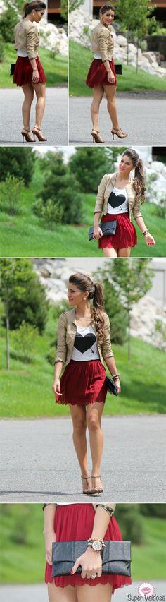 11/06/2012 Saia: LaPaiva / Camiseta e Jaqueta: H / Shoes: Schutz / Clutch: Urban Expressions / Relogio: MK / Pulseira Spike: Asos / Brinco: Ludora