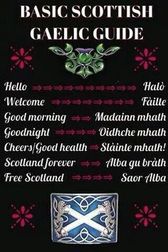 Gaelic Mini-dictionary